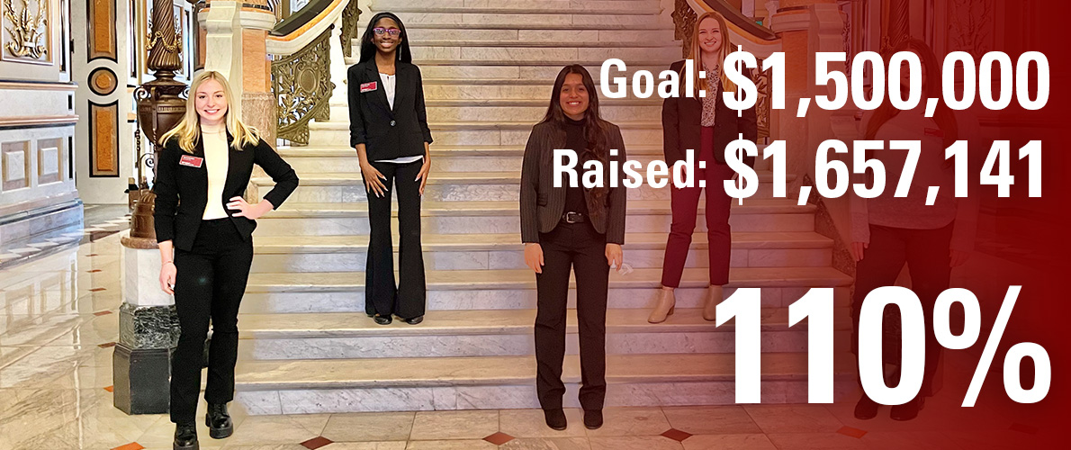 Paul Simon Public Policy Institute campaign goal is $450,000 and we have currently raised $714,503 (159 percent).