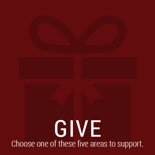 Give Now - Choose one of these five areas of support